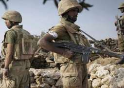 One soldier martyred in exchange of fire during terrorist attack on security forces check posts