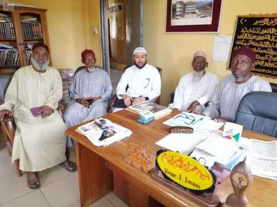 موفد برنامج الإمامة في غانا يزور مكتب أهل السنة والجماعة في أكرا
