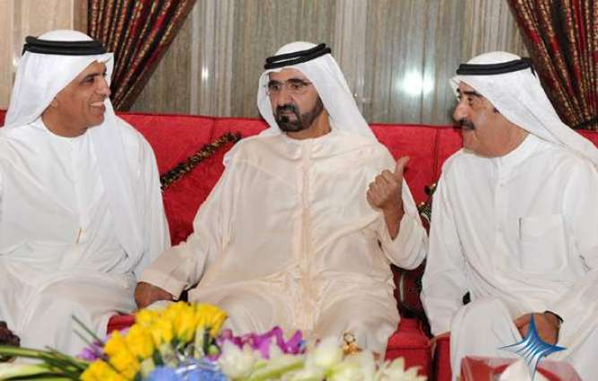 Mohammed bin Rashid receives Rulers of Umm Al Qaiwain, Ras Al Khaimah