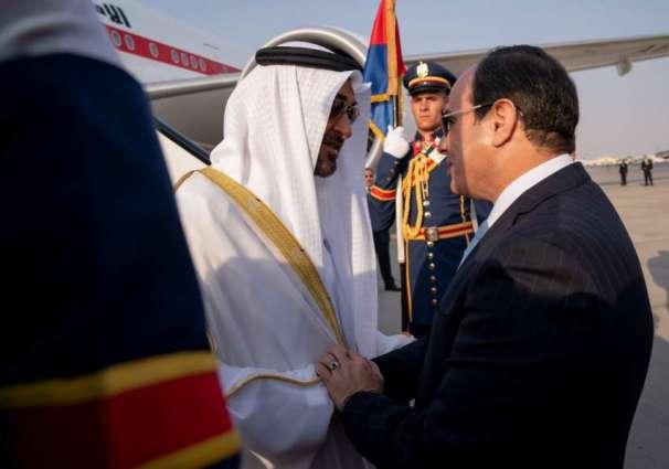 Mohamed bin Zayed arrives in Cairo