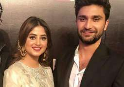 Saboor Aly extends heartfelt wishes over Sajal, Ahad's engagement