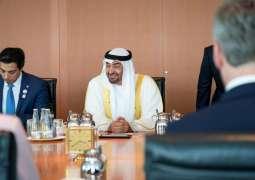 Mohamed bin Zayed attends official dinner in Berlin