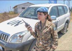 This female Pakistani soldier is serving in UN peacekeeping force