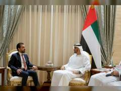 Mohamed bin Zayed receives Iraq Council of Representatives Speaker