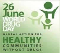 العالم ستحتفل بیوم العالمي لمکافحة المخدرات في 26 یونیو