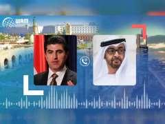 Mohamed bin Zayed congratulates Barzani on election as President of Iraqi Kurdistan Region