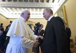 Putin Presents Pope Francis With Icon, Gets Drawing With Vatican View as Gift