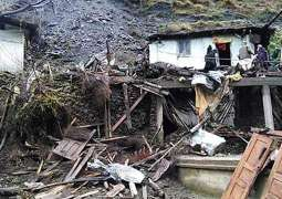 Six killed after landslide hit with a house in Swat