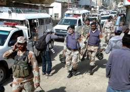 Rangers seize weapons during raid in Karachi's Gulshan-e-Maymar