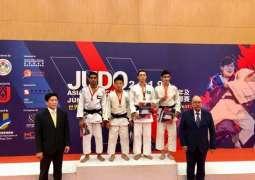 فضية وبرونزيتان لجودو الإمارات في بطولة آسيا المفتوحة للناشئين