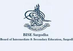 BISE Sargodha announces Matric, class 9th and 10th result
