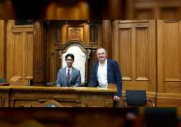 Speaker of New Zealand Parliament receives UAE youth representative