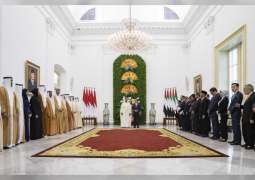 Abu Dhabi Crown Prince, Indonesian President witness exchange of various agreements between the two countries