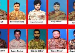 Soldiers of Pakistan Army embraced martyrdom