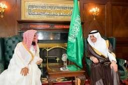 سمو أمير تبوك يستقبل نائب وزير الشؤون الإسلامية