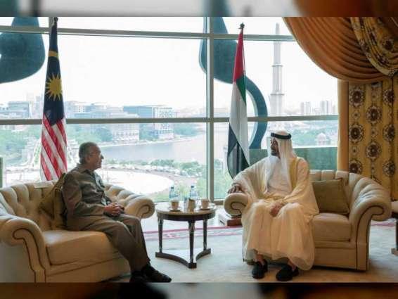 Malaysian PM receives Abu Dhabi Crown Prince