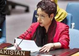 Maleeha asks UN Secretary general to ensure implementation  of UNSC resolutions on Kashmir by India