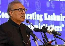 Kashmiris want freedom at all costs: President Dr Arif Alvi
