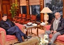 Interior minister calls on Prime Minister Imran Khan