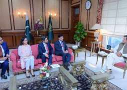Vice-President Shixin Chen Reaffirms ADB's Strong Commitment to Pakistan's Development