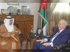 UAE Ambassador to Jordan meets Army Chief, Minister of Education