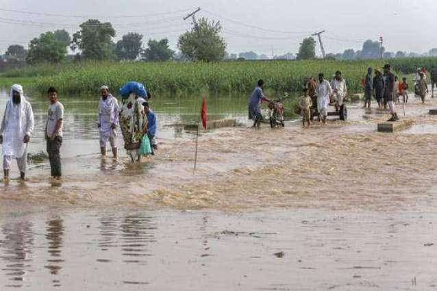 Water level in Sutlej rises up to 20ft at Ganda Singhwala in Kasur