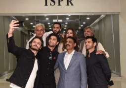 DG ISPR wishes Ehd E Wafa Team GoodLuck