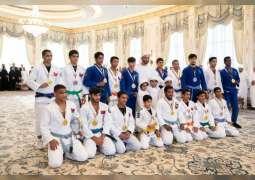 Mohamed bin Zayed receives UAE U-16, U-18  jiu-jitsu youth teams