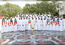 Mohammed bin Rashid receives winners of World Endurance Championship for Young Riders