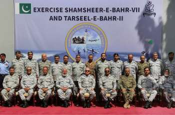 Debrief Of War Game, SHAMSHEER-E-BAHR-VII & Exercise TARSEEL-E-BAHR-II Held At Karachi