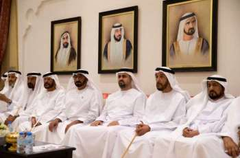 Theyab bin Mohamed attends opening of Al Tawiya Majlis in Al Ain