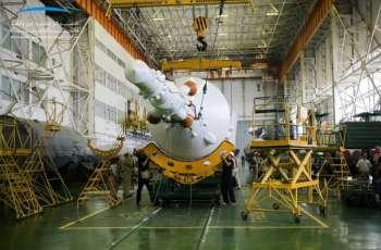 """صاروخ سويوز أف جي يتزين بعلم الإمارات وشعار """"محمد بن راشد للفضاء"""" استعدادا لمهمة 25 سبتمبر"""