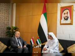 Hazza bin Zayed meets Iraqi Oil Minister