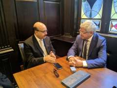 Former Norwegian Premier and AJK President discuss situation in Kashmir