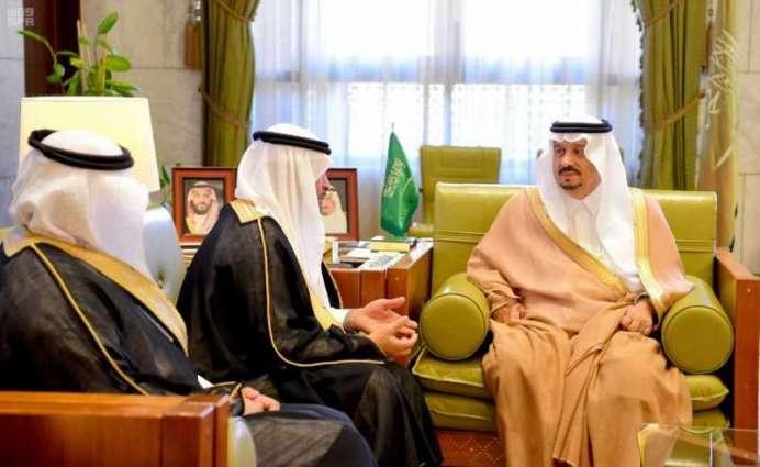 سمو أمير الرياض يستقبل رئيس مجلس إدارة شركة الشرق الأوسط للرعاية الصحية