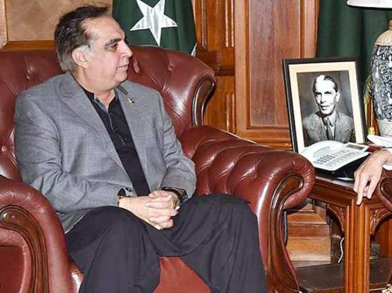القنصل العام الصیني لدي کراتشي یلتقي حاکم اقلیم سندہ عمران اسماعیل في لقاء وداعي