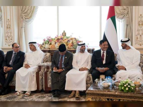 Mohamed bin Zayed receives Indonesian official