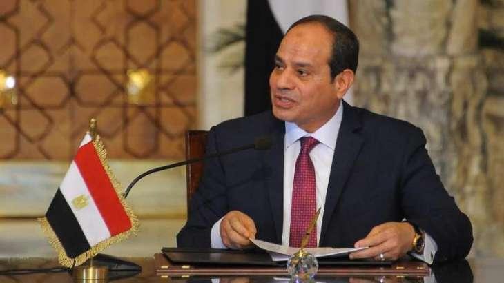 الرئیس المصري عبدالفتاح السیسي یستقبل رئیس الوزراء السوداني عبداللہ حمدوک