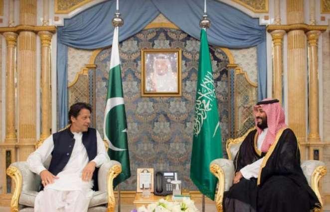 ولي العھد السعودي الأمیر محمد بن سلمان یستقبل رئیس وزراء جمھوریة باکستان الاسلامیة عمران خان