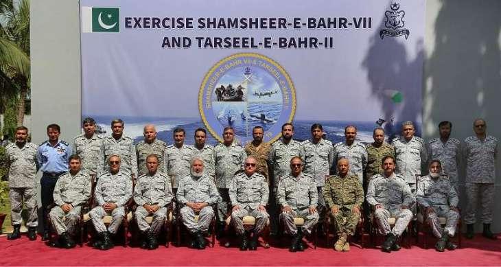 Debrief Of War Game, SHAMSHEER-E-BAHR-VII & Exercise TARSEEL-E-BAHR-II Held At Karachi