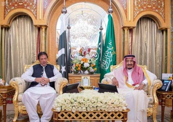 الملک السعودي سلمان بن عبدالعزیز یستقبل رئیس وزراء جھموریة باکستان الاسلامیة عمران خان