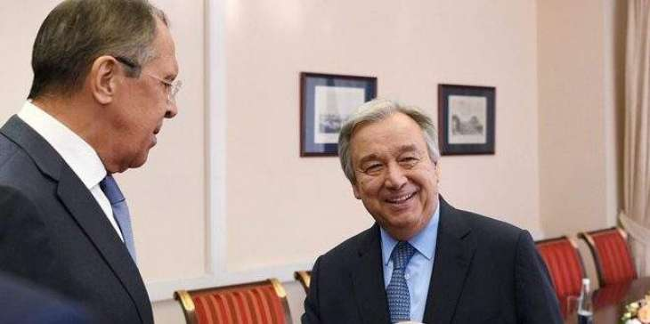 Lavrov, UN Chief Discuss Talks on Syria - Russian Foreign Ministry