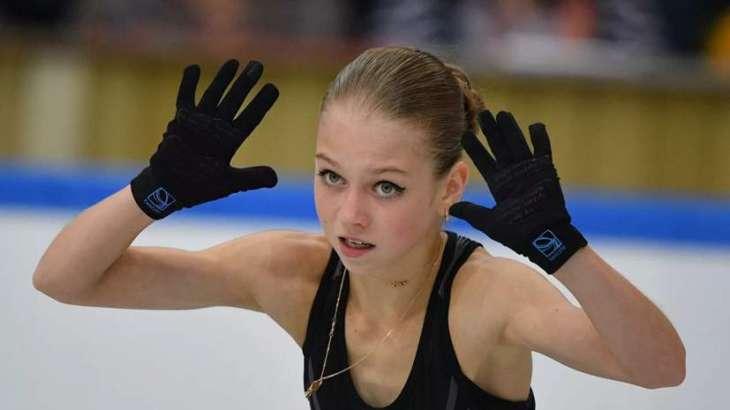 Russian Figure Skater Trusova Sets 2 World Records in Bratislava