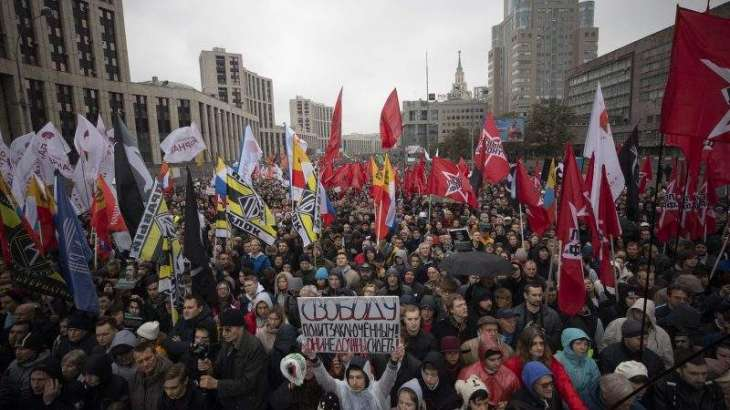 Thousands rally in Moscow to demand release of jailed protestors