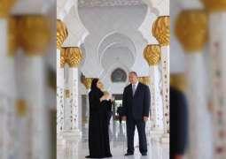 King of Tonga visits Sheikh Zayed Grand Mosque