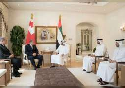 Mohamed bin Zayed, King of Tonga discuss fostering relations