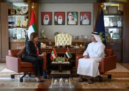 Saif bin Zayed receives Lebanese Interior Minister