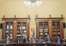 حاكم الشارقة يزور المكتبة الوطنية الإسبانية