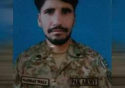 Sepoy Naimat Wali martyred in Indian forces' firing along LOC