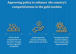 UAE Cabinet approves policy to enhance competitiveness in gold markets regionally and globally